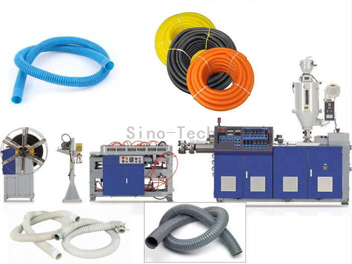 HDPE PP EVA Single wall Corrugated Pipe Extrusion line