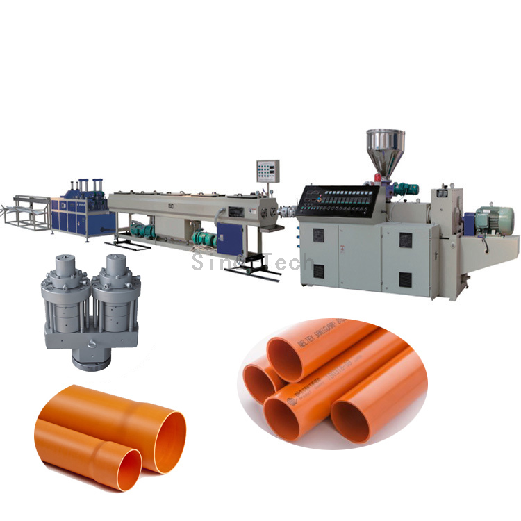plastic PVC electrical conduit pipe extrusion production line